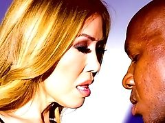Jaw Pulling Down Asian Pornography Diva Kianna Dior Gets Her Mouth And Gash Blacked