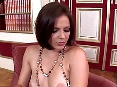 Lovely Chocolate-colored Haired Lady Bobbi Starr With Natural Tits And