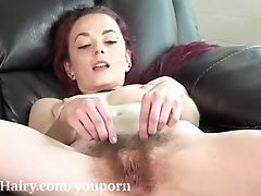 Ivy Addams Strips Nude On Her Leather Couch