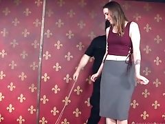 Subordinated Geek Sierra Cirque Gets Disrobed And Tied Up Before Spanking