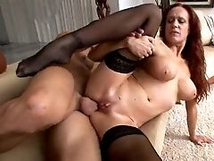 Faux Tittied Ginger Chick Is Fucked By Brutal Neighbor