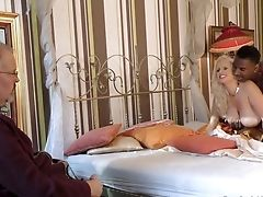 Old Impotent Is Watching His Whore Wifey Angel Wicky Goes Black