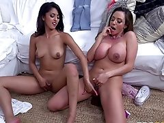 Sophia And Ariella Would Like To Have Their Vaginas Wedged Right Now!