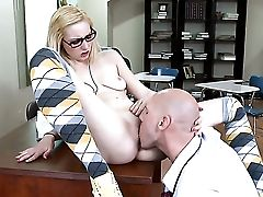 Johnny Sins Is Horny As Hell And Cant Wait No More To Drill Blonde Rylie Richman With His Pulsating Schlong
