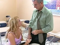 Old Perverted Instructor Loves Fresh And Taut Beaver Of School Chick Lexi Belle