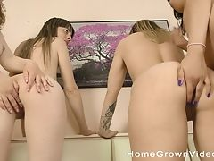 Wild Girl-on-girl Group Fuck-fest With Best Friends Who Love Eating Cunny
