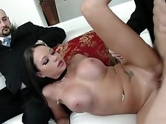 Dark Haired Swapper Loves Fresh Dick