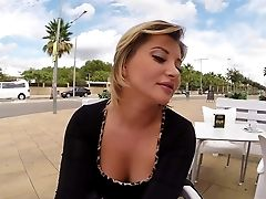 Charming Euro Chick Anna Polina Is Brief On Her Dough