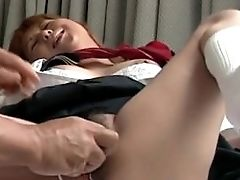 Asian Hoe Getting Her Moist Labia Hook-up Plaything Treated