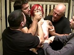 Rough Gang-bang Along Trampy Phoenix Askani