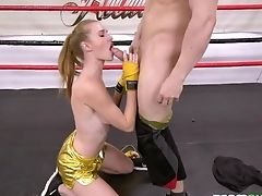 Sexy Sport Stunner Ashley Lane Gives A Bj To Her Boxing Trainer