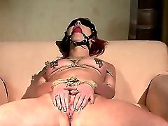 Raunchy Sandy-haired Stunner Angelina Blue Gets Tied And Predominated As She Taunts Her Bald Muff With A Electro-hitachi