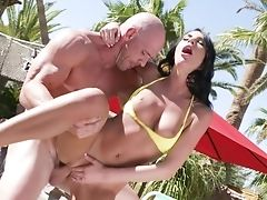 Outdoor Sultry Bang-out For Huge-chested August Ames