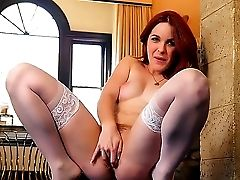 Amarna Miller Is A Gorgeous Spanish Red-haired That Gets Filmed Flexing Her Cock-squeezing Bod. She Plays With Her Muff In Front Of The Camera And We