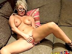 Fakeagentuk Massive Facial Cumshot For Hot Blonde Cougar