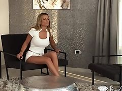 Romanian Mummy Spreads Gams Broad Open And Masturbates Cooter In Front Of Her Paramour