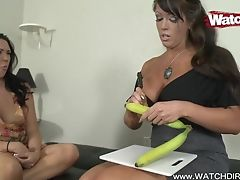 Hot Mom Shows Daughter-in-law How To Suck Dick