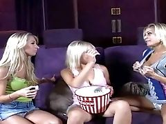 Attractive Sexy Blonde Honeys Nikki, Sammie And Nikita With Hot
