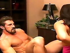 Marvelous Beauty Mia Lelani Is Being Prettily Fucked In Her Mouth By The Hard Spear Of Her Manager, While Nobody Is In The Office And Can See Them Hav