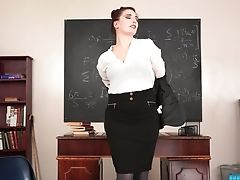 Kinky Ginger-haired Tutor Ivory Is Actually A Queen Of Disrobing