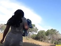 After She Shows Her Underpants Sophie Garcia Gives A Oral Pleasure To The Cop