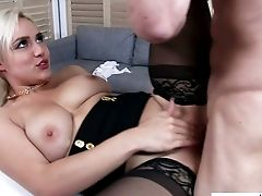 Damn Sexy Blonde Haired Assistant Lures Her Chief For Some Casual Fuck