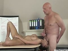 Buxom Czech Black-haired Nicole Love Gives Solid Bj And Rails Messy Fuckpole