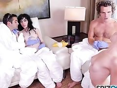 Spizoo - Charlotte Sartre Take Two Fuck-sticks In Her Lil' Caboose
