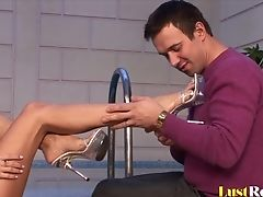 Perverse Jasmine Rouge Loves Providing Free Footjobs