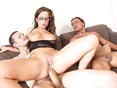 Nerdy Honey Called Cindy Buck Eventually Receives The Dual Humping