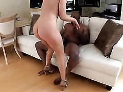 Interracial Romp On A Sofa