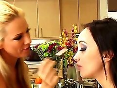 Backstage Scene With Two Fascinating Honeys Katsuni And Sandy Posing On The Camera