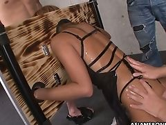 Tied Up And Restrained Asian Hooker Tsubasa Miyashita Gets Her Cunny Disciplined