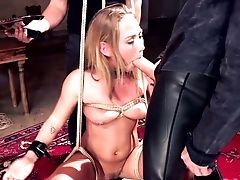 Real Horny Tying Hoe Carter Cruise Stands On Knees And Gives A Decent Oral Job