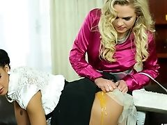 Charming Lesbos Making A Giant Egg Mess In The Probe In A Close Up Shoot