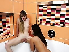 Dark Haired And Angel Piaf Spend Time Having Lezzy Hook-up
