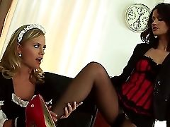 Sexy Honeys Madlin And Vanda Are Having A Servant With Master Erotic Session