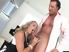 Alluring Blonde With Humungous Tits Called Amber Having Hard-core Hook-up Again