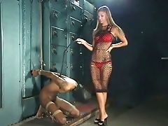 Enslaved Mate In Victim Mask Is Treated Shitty By Master Cougar Brooke Banner