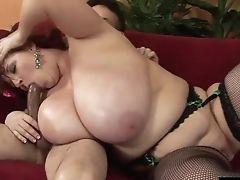 Big Arse Bbw Rewarding Her Horny Stud With Superb Tit Drilling