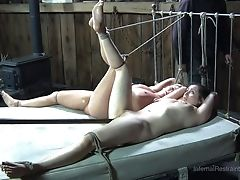 Two Mischievous Slags Love Being Restrained And Having Their Cunts Pleasured