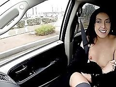 Back Seat Fantasy For A Skinny College Girl