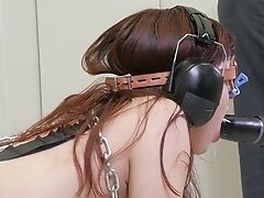 Tied Up Buxom Obedient Whore Gets Poked Rear End Hard After Oral Bang-out