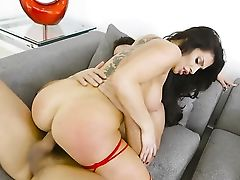 Ramon Nomar Touches The Finest Parts Of Amazingly Hot Nikki Capones Figure Before He Bangs Her Mouth