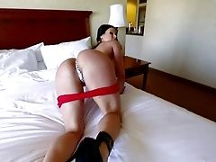Hot Stripped To The Waist Mummy Kendra Fervor In Sexy Undies And Boots