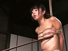 Tightly Restrained Asian Gf Marica Hase Had Hard Domination & Submission Scene With Black Man