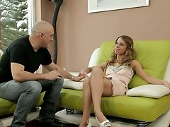Hot Chick Nikky Thorne Gets Her Taut Fuckhole Worked Over Adorably