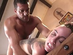 Subjugated Hoe In Cangue Roxanne Rae Is Analfucked Rear End Hard Enough
