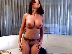 Red-haired Senorita With Large Orbs Penetrated By The Experienced Man