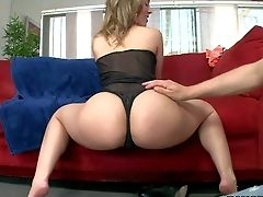 Revved On Pallid Brown-haired Tramp Kristina Rose With Natural Boobies